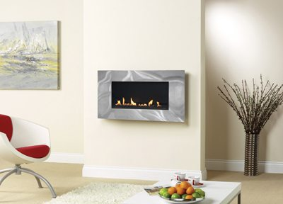 Burley Latitude Flueless wall mounted gas fire
