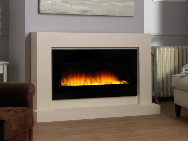 free standing electric suite fires