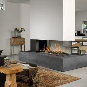 Bellfire Room Divider Large 3 Gas Fireplace