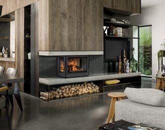 Bellfire Unilux-6 270 Three-Sided Wood Fireplace