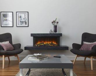Brockenhurst Electric Suite (Grey marble effect)