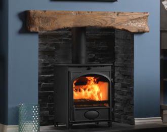 Fireline 8kw Multifuel Stove with Arched Door