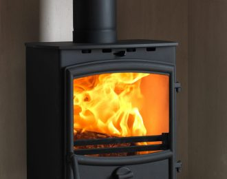 Fireline 8kw Multifuel Stove with Curved Door