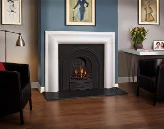 FDC Arlington Aegean Limestone Fireplace