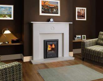 Celtic Aegean Limestone Fireplace