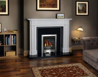 Chantry Aegean Limestone Fireplace