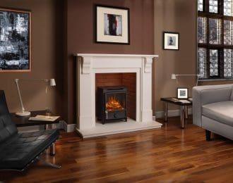Edwardian Corbel Aegean Limestone Fireplace
