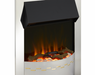 Ellister Chrome Optiflame Electric Inset Fire