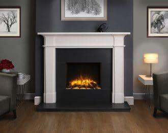 Epsom Aegean Limestone Fireplace