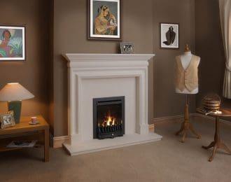 Pembroke Aegean Limestone Fireplace