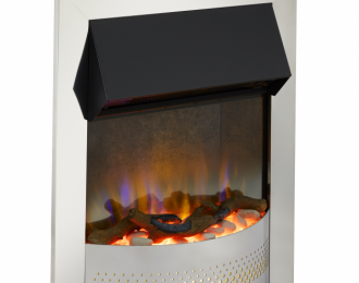 Portree Chrome Optiflame 3D Electric Inset Fire