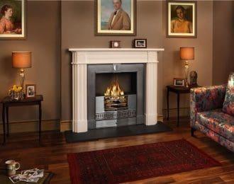 Regency Aegean Limestone Fireplace