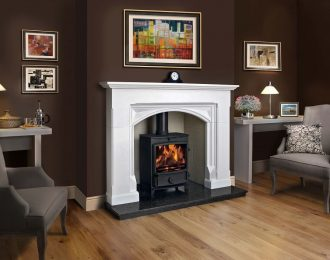 Rutland Aegean Limestone Fireplace