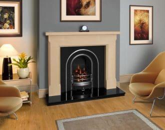Shelby Sandstone Fireplace