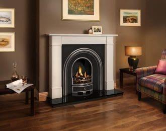 Victorian Classic Aegean Limestone Fireplace