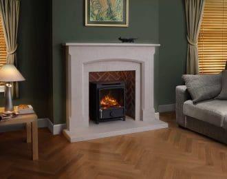 Warwick Chamot Limestone Fireplace