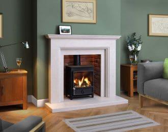 Windsor Chamot Limestone Fireplace