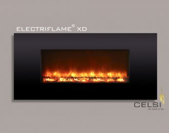 Celsi Electriflame XD Piano Black Electric Fire
