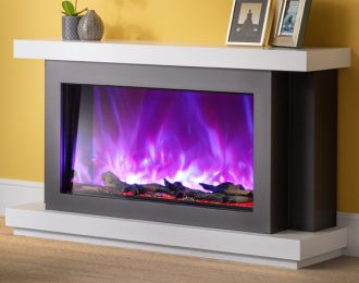 AGA Rayburn Stratus 125 Extra Tall Electric Fireplace Suite