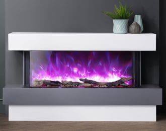 AGA Rayburn Stratus Tru View 125 Electric Fireplace Suite