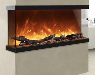 AGA Rayburn Stratus Tru View 100 3-Sided Electric Fire