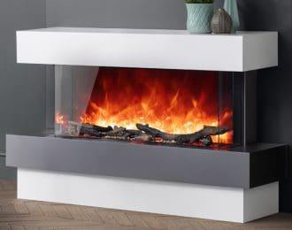 AGA Rayburn Stratus Tru View 100 Electric Fireplace Suite