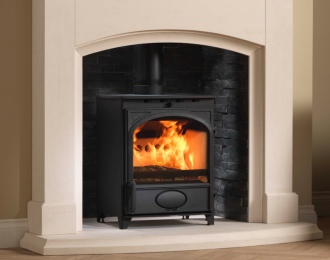 Fireline 5kw Wide Multifuel Stove with Arched Door